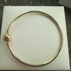 Authentic Pandora 14K Gold Bangle #550713-21 8.3